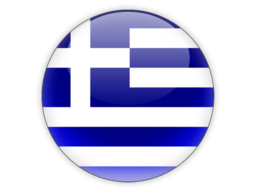 Round flag greece