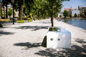 Solar bench Park Wifi and USB