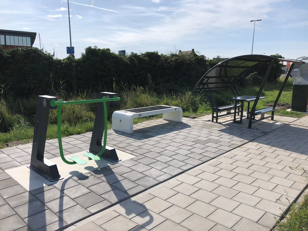 Solar bench youth meeting point